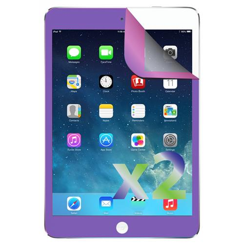 Exian iPad Mini 1 / 2 / 3 Screen Protectors X 2 with Purple Border