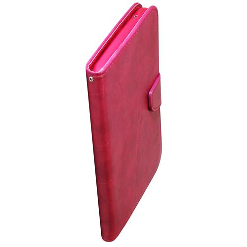 "Exian Samsung Galaxy Tab 3 7"" PU Soft Leather Flip Case with pockets and Stand Pink"
