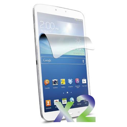 "Exian Samsung Galaxy Tab 3 8"" Screen Protectors X 2 Clear"
