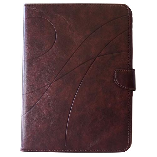 """Exian Samsung Galaxy Tab 3 10.1"""" PU Leather Flip Case with Pockets and Stand Brown"""