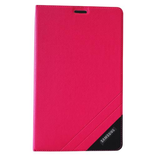 "Exian Samsung Galaxy Tab 4 7"" PU Leather Flip Case with Pockets and Stand Pink"