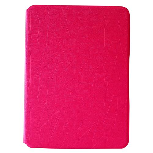"""Exian Samsung Galaxy Tab 4 10.1"""" PU Leather Flip Case with Pockets and Stand Pink"""