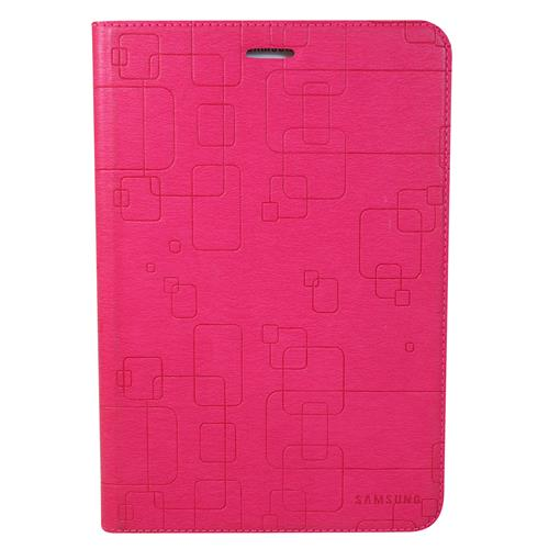 "Exian Samsung Galaxy Tab A 8"" PU Leather Flip Case with Pockets and Stand Pink"