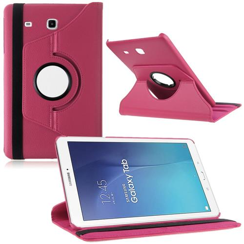 """Exian Samsung Galaxy Tab A 9.7"""" PU Leather Flip Case with Pockets and Stand Pink"""