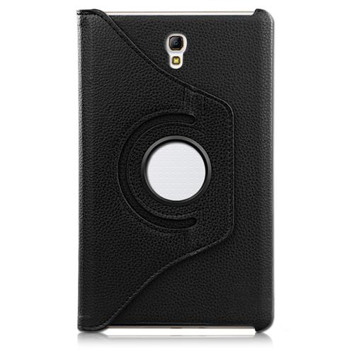 "Exian Samsung Galaxy Tab S 8.4"" PU Leather Rotatable Flip Case with Stand Black"