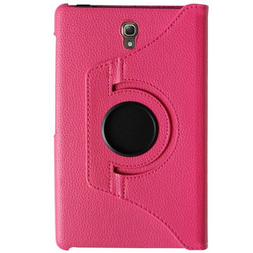 "Exian Samsung Galaxy Tab S 8.4"" PU Leather Rotatable Flip Case with Stand Pink"