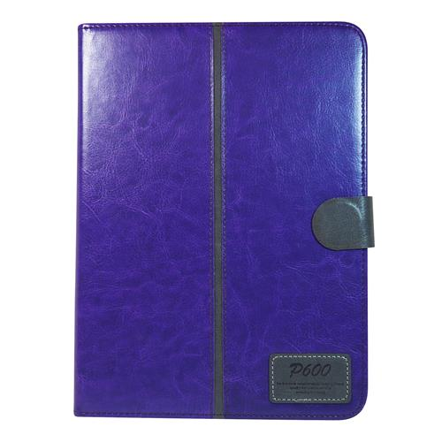 "Exian Sansung Galaxy Note 10 10.1"" 2014 Edition PU Leather Flip Case with Pockets and Stand Purple"