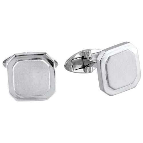 Sterling Silver Beveled Octagon Cufflinks