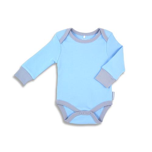 972626de75aa Endanzoo 100% Certified Organic Long Sleeve Baby Onesie - Blue w ...