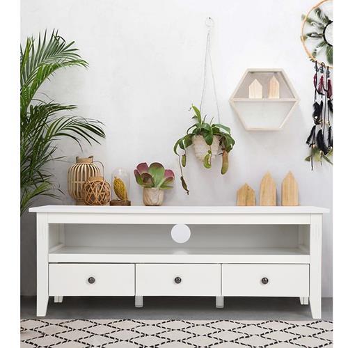 "FurnitureR – Bonn White 55"" TV Stand"