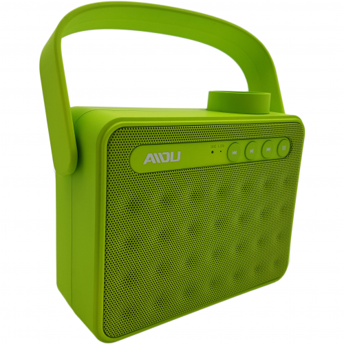 Sansui Portable Outdoor Wireless Handle Dual Subwoofers AY827 Bluetooth Speaker-Green