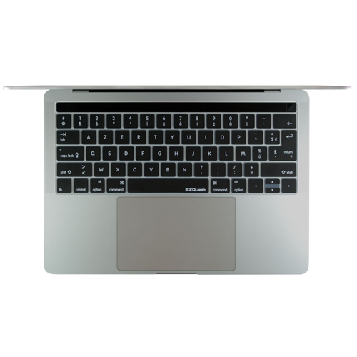 EZQuest X21275 French Keyboard Cover for MacBook Pro 13-inch & 15-inch with Touch Bar Late 2016, US/ISO, Black, English