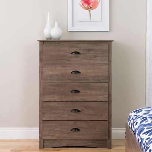 commode transitionnelle 5 tiroirs salt spring gris commodes et chiffonniers best buy canada. Black Bedroom Furniture Sets. Home Design Ideas