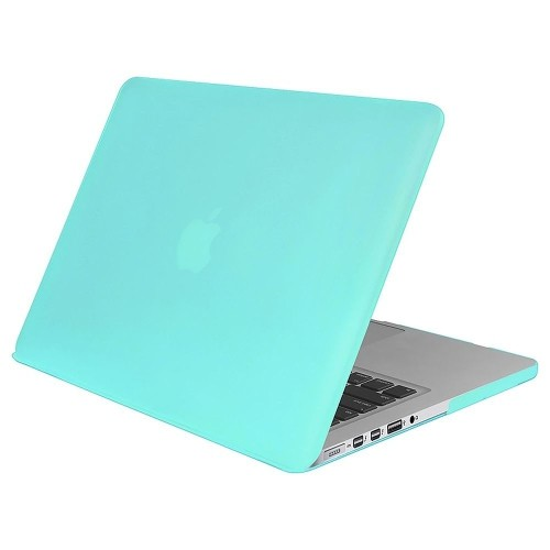 Insten Snap-in Rubber Coated Case For Apple MacBook Pro with Retina Display 13-inch (2014/2015) Blue
