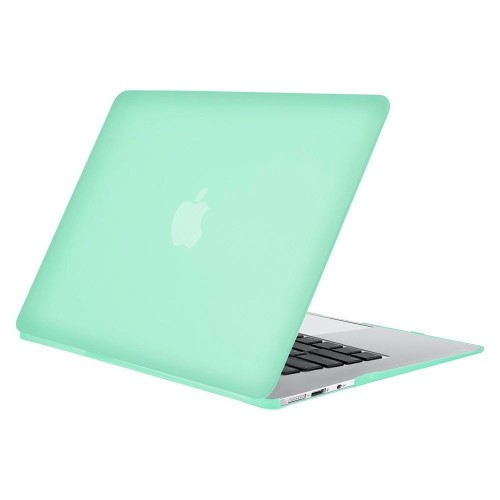 Insten Snap-in Rubber Coated Case compatible with Apple MacBook Air 13-inch, Ocean Green