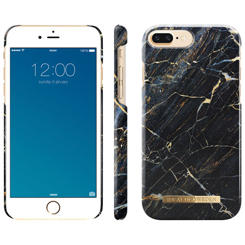 iDeal of Sweden Fitted Hard Shell Case for iPhone 8 7 6S Plus - Port  Laurent Marble Black   iPhone 8 89748452fbe3f