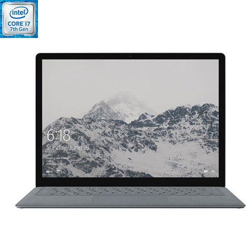 Portable Surface 13,5 po Microsoft - Platine (Core i7-7660U Intel/SSD 512 Go/RAM 16 Go/Win 10 S) -An