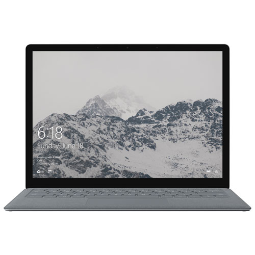 "Microsoft Surface Laptop 13.5"" - Platinum (Intel Core i5-7200U/128GB SSD/4GB RAM/Win 10 S) - French"