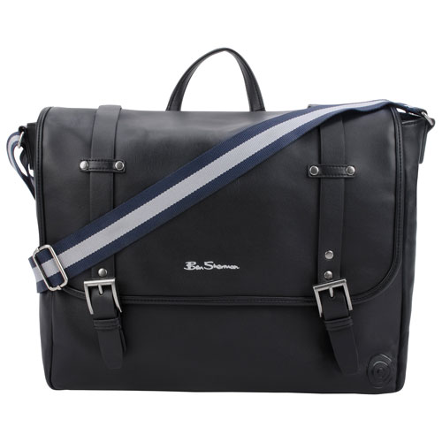"Ben Sherman Bowen Road 15"" Laptop Messenger Bag - Black"