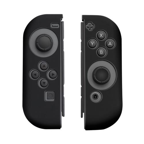 Insten Protective Silicone Skin Cover Case For Nintendo Switch Joy-Con Left&Right Controller, Black