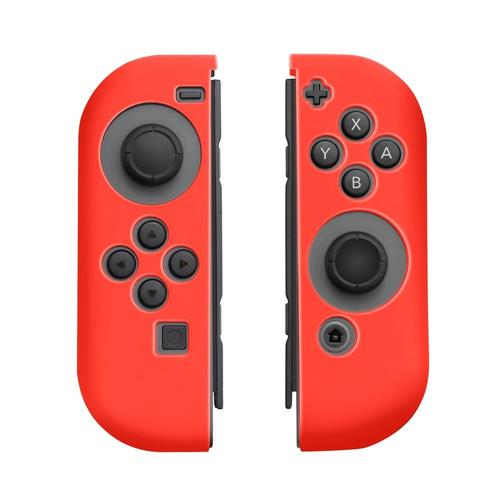 Insten Protective Silicone Skin Cover Case For Nintendo Switch Joy-Con Left&Right Controller, Red