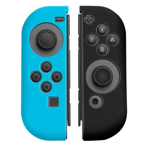 Insten 1Pair Silicone Skin Cover Case For Nintendo Switch Joy-Con Left&Right Controllers, Blue/Black