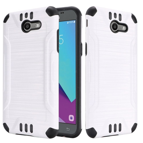 Insten Hard Case For Samsung Galaxy Amp Prime 2/Express Prime 2/J3 (2017)/J3 Eclipse, White
