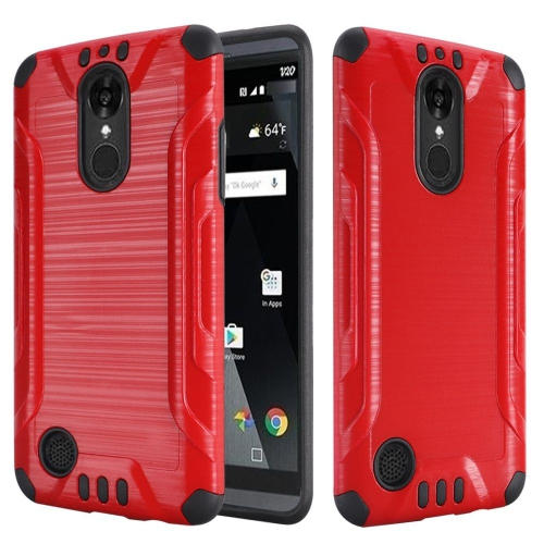 Insten Hard Hybrid Rubberized Silicone Case For LG Aristo/K8 (2017), Red