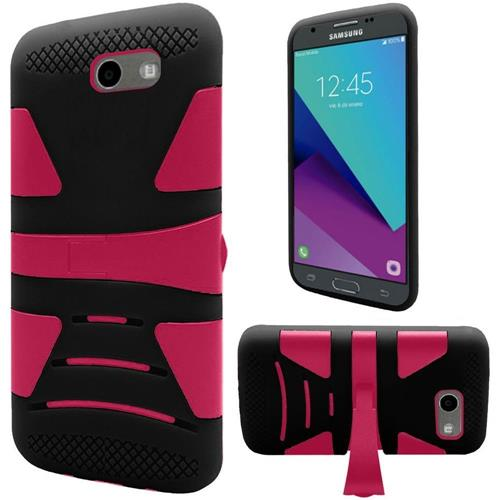 Insten Hard Case For Samsung Galaxy Amp Prime 2/Express Prime 2/J3 (2017)/J3 Eclipse, Hot Pink