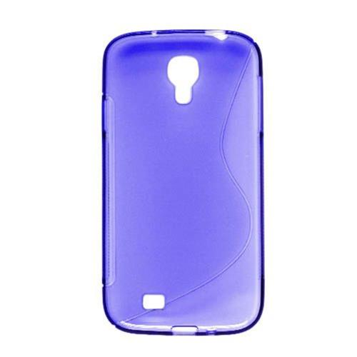Insten S Shape Rubber Transparent Cover Case For Samsung Galaxy S4, Blue