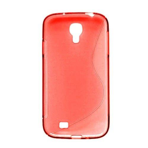 Insten S Shape TPU Clear Case For Samsung Galaxy S4, Red