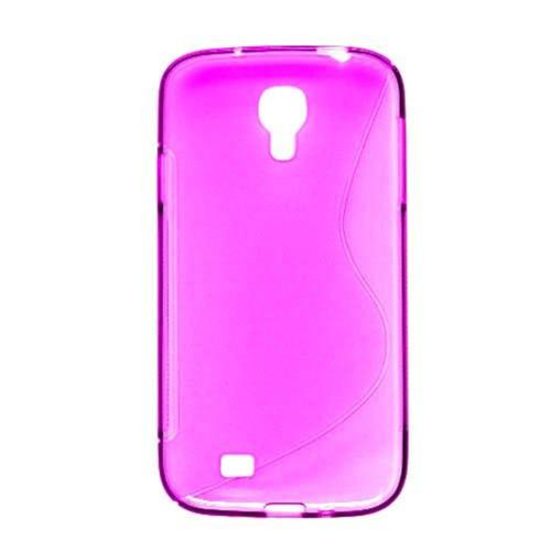Insten S Shape Gel Clear Cover Case For Samsung Galaxy S4, Hot Pink