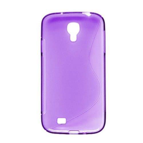 Insten S Shape TPU Transparent Case For Samsung Galaxy S4, Purple