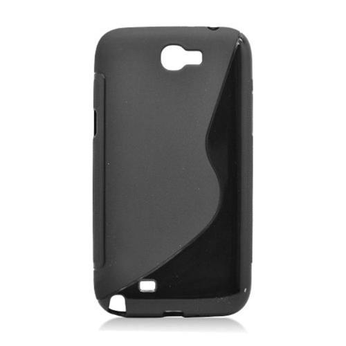 Insten S Shape Gel Cover Case For Samsung Galaxy Note II, Black