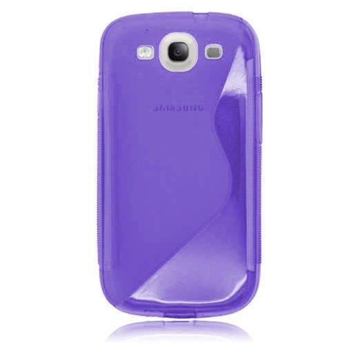 Insten S Shape TPU Clear Cover Case For Samsung Galaxy S3, Purple