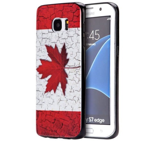Insten Fitted Soft Shell Case for Samsung Galaxy S7 Edge - White;Red