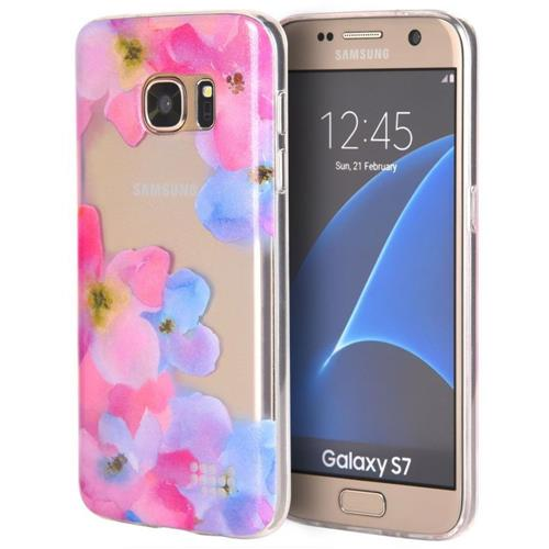 Insten Fitted Soft Shell Case for Samsung Galaxy S7 - Purple; Pink