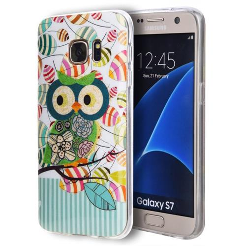 Insten Owl Gel Case For Samsung Galaxy S7, Blue