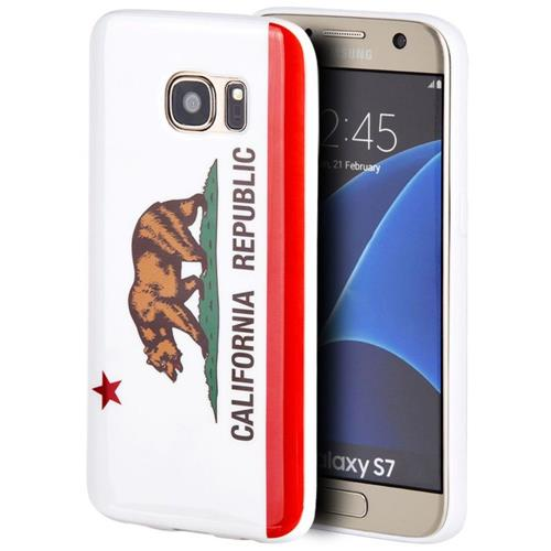 Insten California Gel Case For Samsung Galaxy S7, White/Red