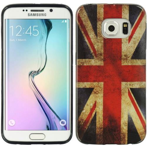 Insten British Flag TPU Case For Samsung Galaxy S6, Red/Blue