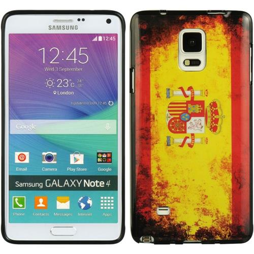Insten Spain TPU Cover Case For Samsung Galaxy Note 4, Orange/Yellow