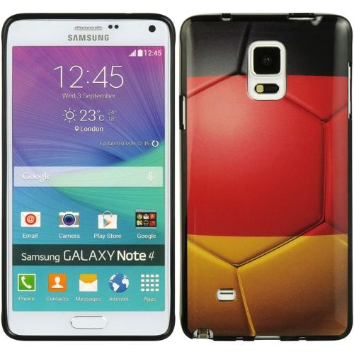 Insten Germany Gel Case For Samsung Galaxy Note 4, Red/Black