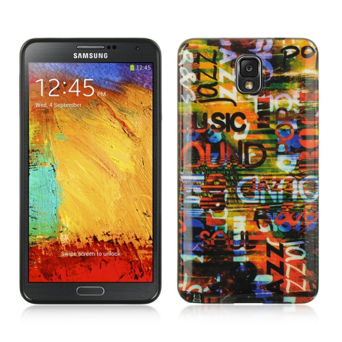 Insten Urban Graffiti Gel Cover Case For Samsung Galaxy Note 3, Colorful