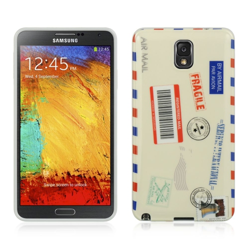 Insten Fitted Hard Shell Case for Samsung Galaxy Note 3 - White;Red