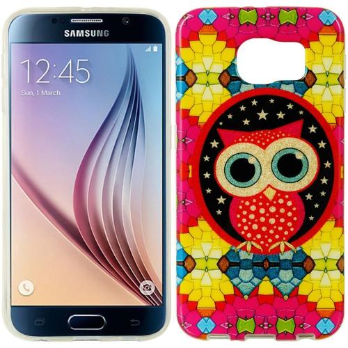 Insten Owl TPU Case For Samsung Galaxy S6, Orange/Yellow