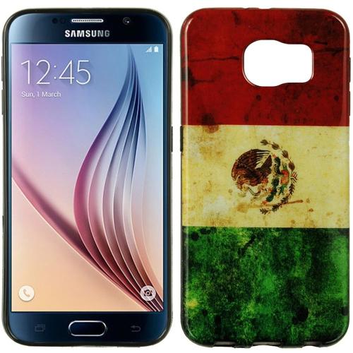Insten Mexico Gel Case For Samsung Galaxy S6, Red/Green