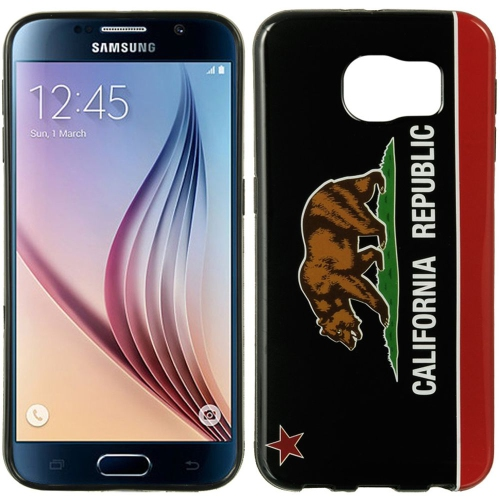 Insten Fitted Hard Shell Case for Samsung Galaxy S6 - Black;Red