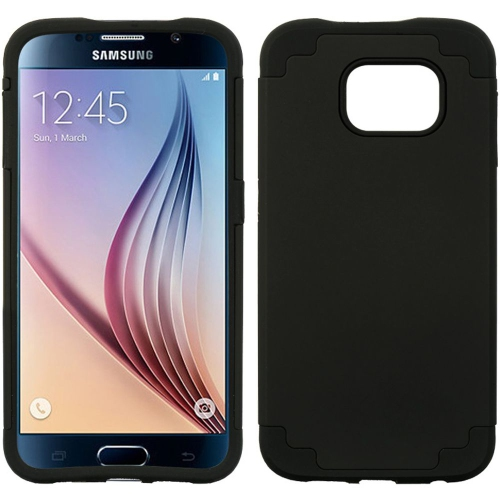 Insten Hard Hybrid TPU Cover Case For Samsung Galaxy S6, Black