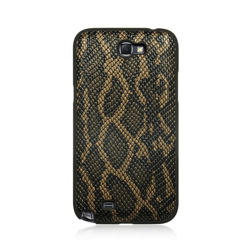 Insten Snake Skin Hard Rubberized Case For Samsung Galaxy Note II, Brown
