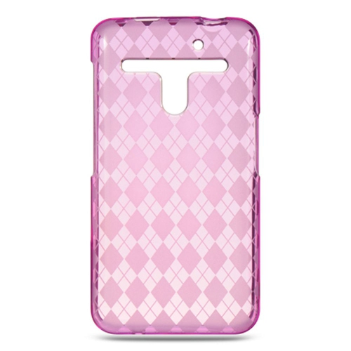 Insten Checker Gel Case For LG Esteem/Revolution, Hot Pink